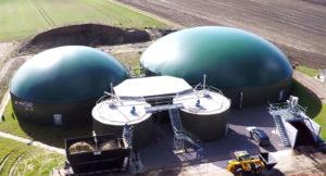 Luftbild einer Biogasanlage